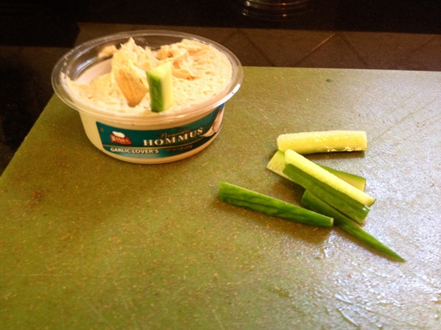 hummus and cucumber